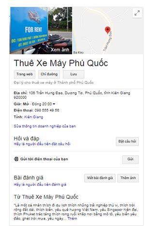 Cho Thuê xe máy ở Dương Đông Phú Quốc