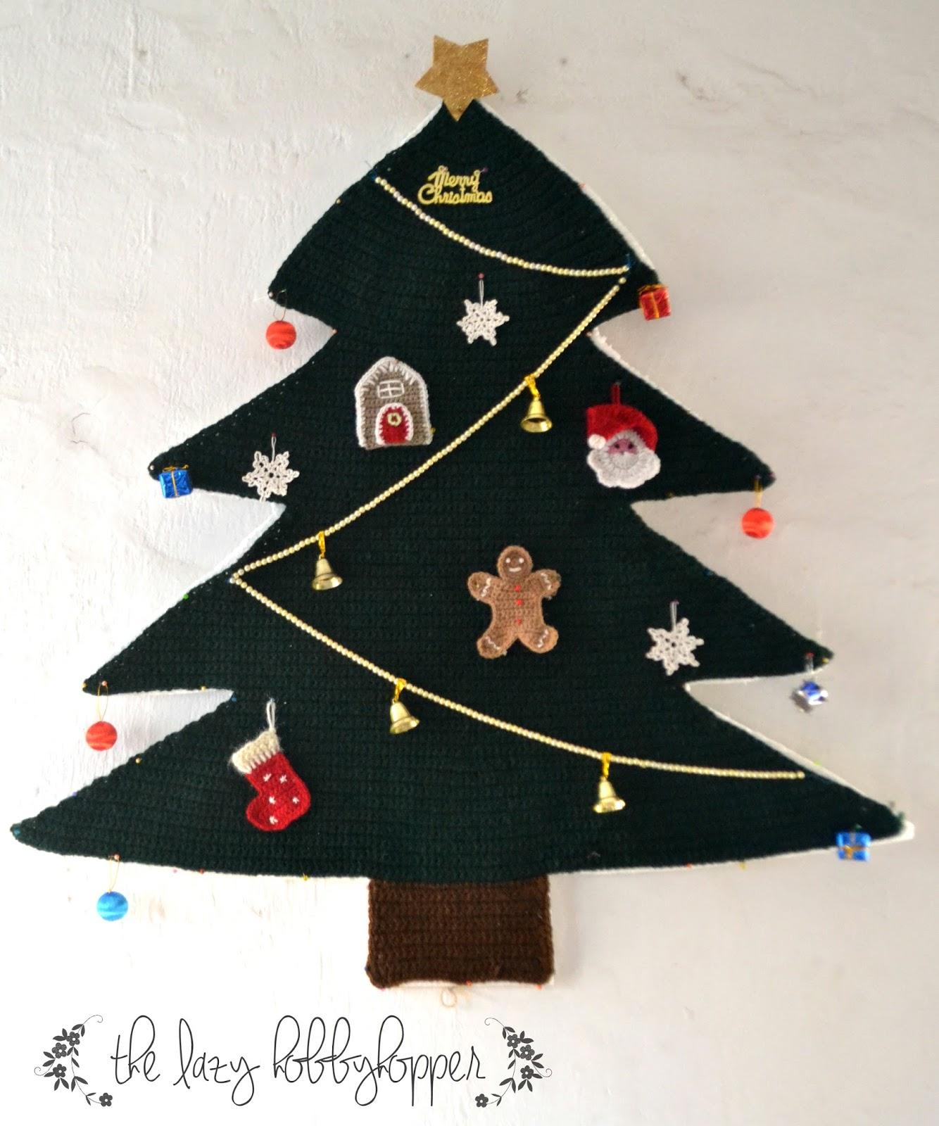 crochet christmas tree wall hanging - Wall Hanging Christmas Tree