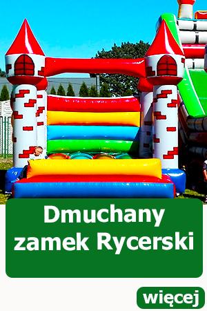 dmuchany zamek rycerski, dmuchańce atrakcje dla dzieci Kąty Wrocławskie, Piknik, festyn animacje dla dzieci