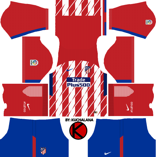 Atletico Madrid Dream League Soccer Kits 2017/18