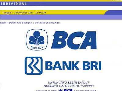 transfer bca bri internet banking