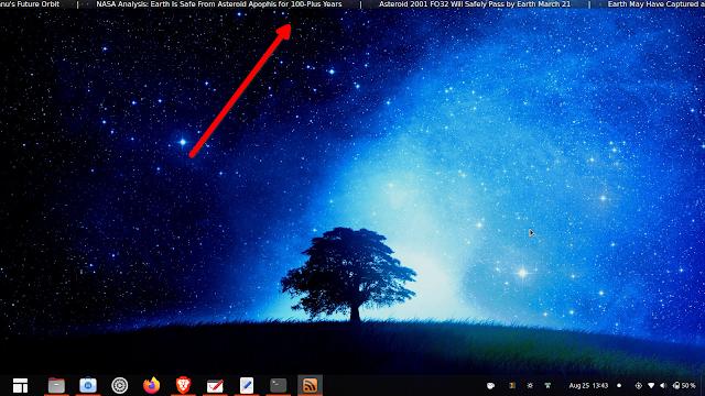 Tickr desktop news ticker for Linux and Windows