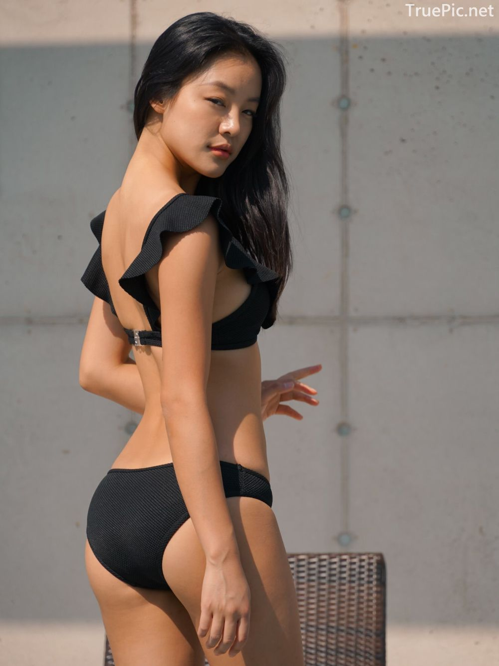 Korean model and fashion - Choi Seok Yeong - Alice Black and Blue Bikini - Picture 6