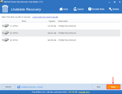 MiniTool Power DATA Recovery scan