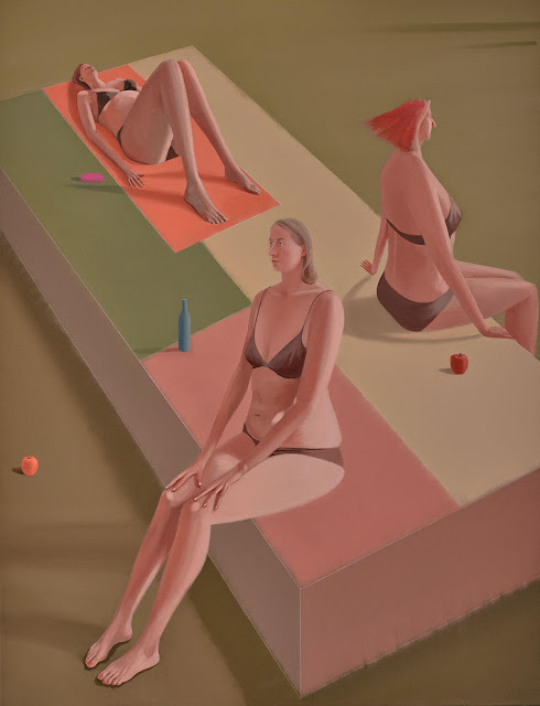 Prudence Flint, pinturas, imagenes de soledad femenina bonitas, chidas de arte inspirador, mujer personalidad fragmentada,