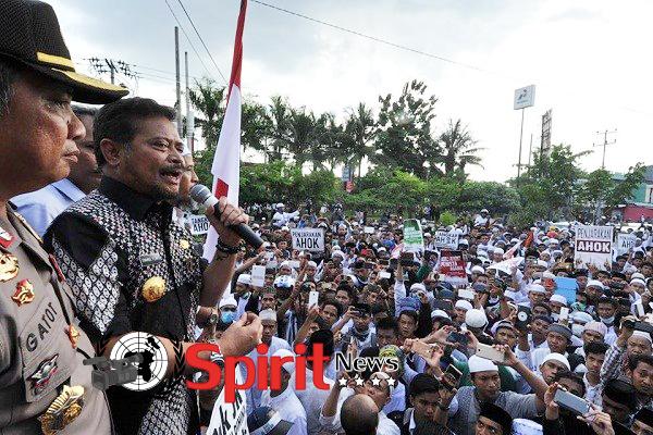 Syahrul Yasin Limpo,Orasi di Hadapan Massa Ormas Islam di Sulsel