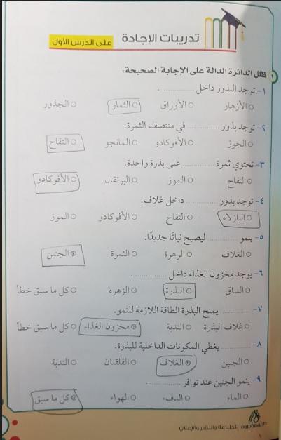 تحميل كتاب سلسلة الاجابة في العلوم للصف الخامس PDF