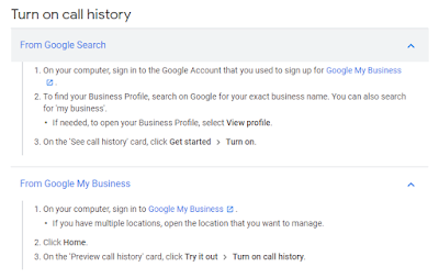 How to Turn on GMB Call History