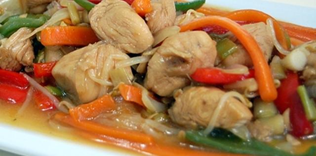 Receta Chapsui de pollo y verduras, un plato delicioso fresco y nutritivo Chapsui de Pollo y verduras