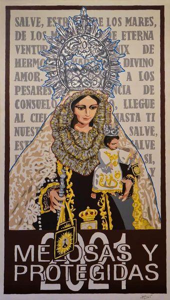 Cartel de La Virgen del Carmen de Las Melosas y Protegidas Torre del Mar 2021