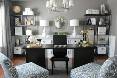 Black White and Gold office
