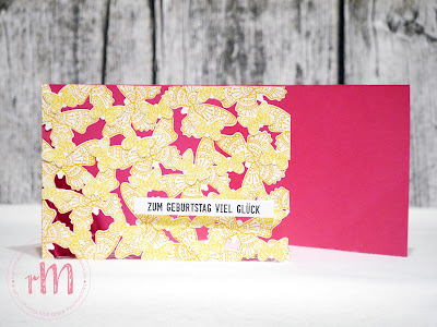 Stampin' Up! rosa Mädchen Kulmbach: Kreativ Trip: Sommer, Sonne, Sonnenschein – Floating Die Cut Geburtstagskarte mit Schmetterlingsglück und Geburtstagsmix