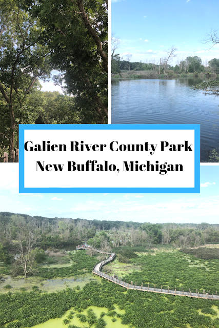 Galien River County Park in New Buffalo, Michigan Treats Hikers to a Tree Canopy and Boardwalk Walk with Fantastic Views