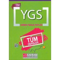 Kavram YGS TM Tüm Dersler 1.Dönem Tekrar Testleri (2016)