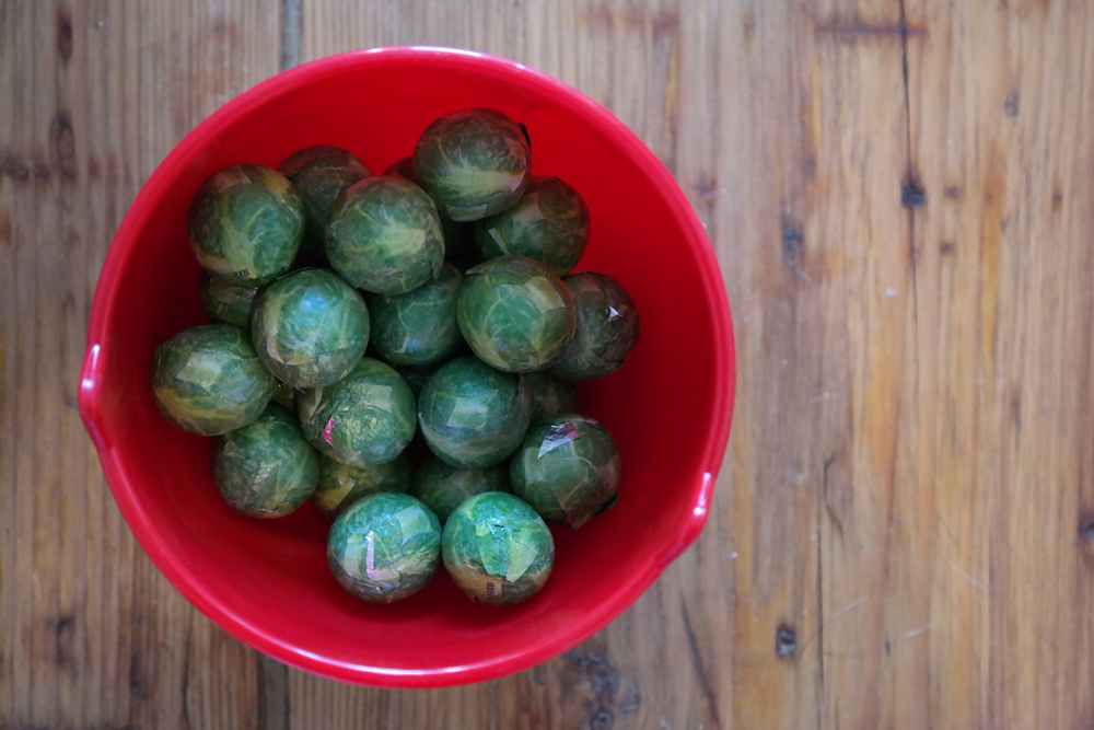 Bowl of chocolate brussel sprouts