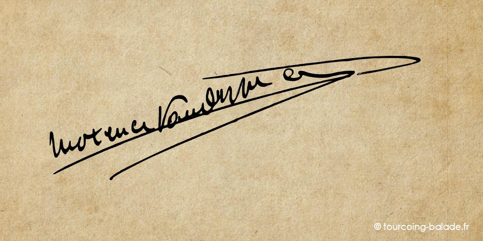 Signature de Maxence Van der Meersch