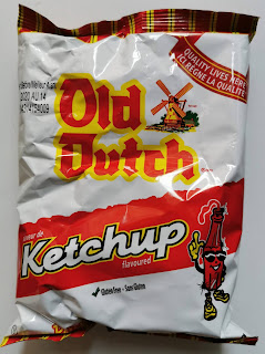 Unopened bag of Old Dutch Ketchup Potato Chips, from Snack Crate
