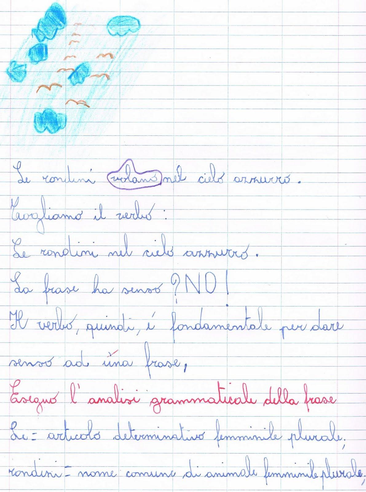 Esercizi Di Analisi Grammaticale Per La Classe Seconda