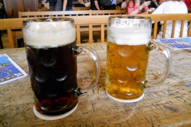 2 days in Munich Germany: two Maß (1 L) steins of beer