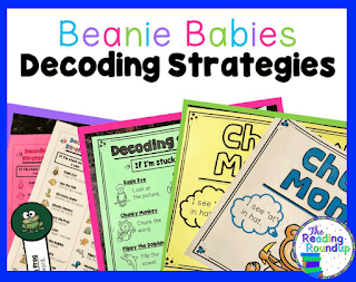 The Reading Roundup - Beanie Baby Reading Strategies Posters