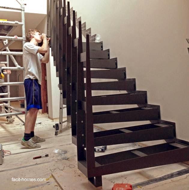 Construcción de escalera interior