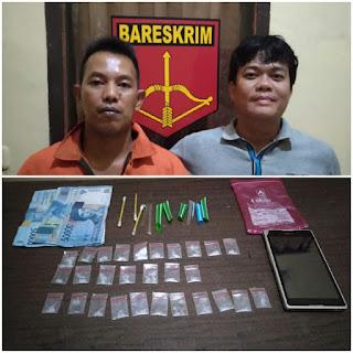 Polsek Makarti Jaya Ciduk Kemas, 25 Paket Shabu Gagal Beredar