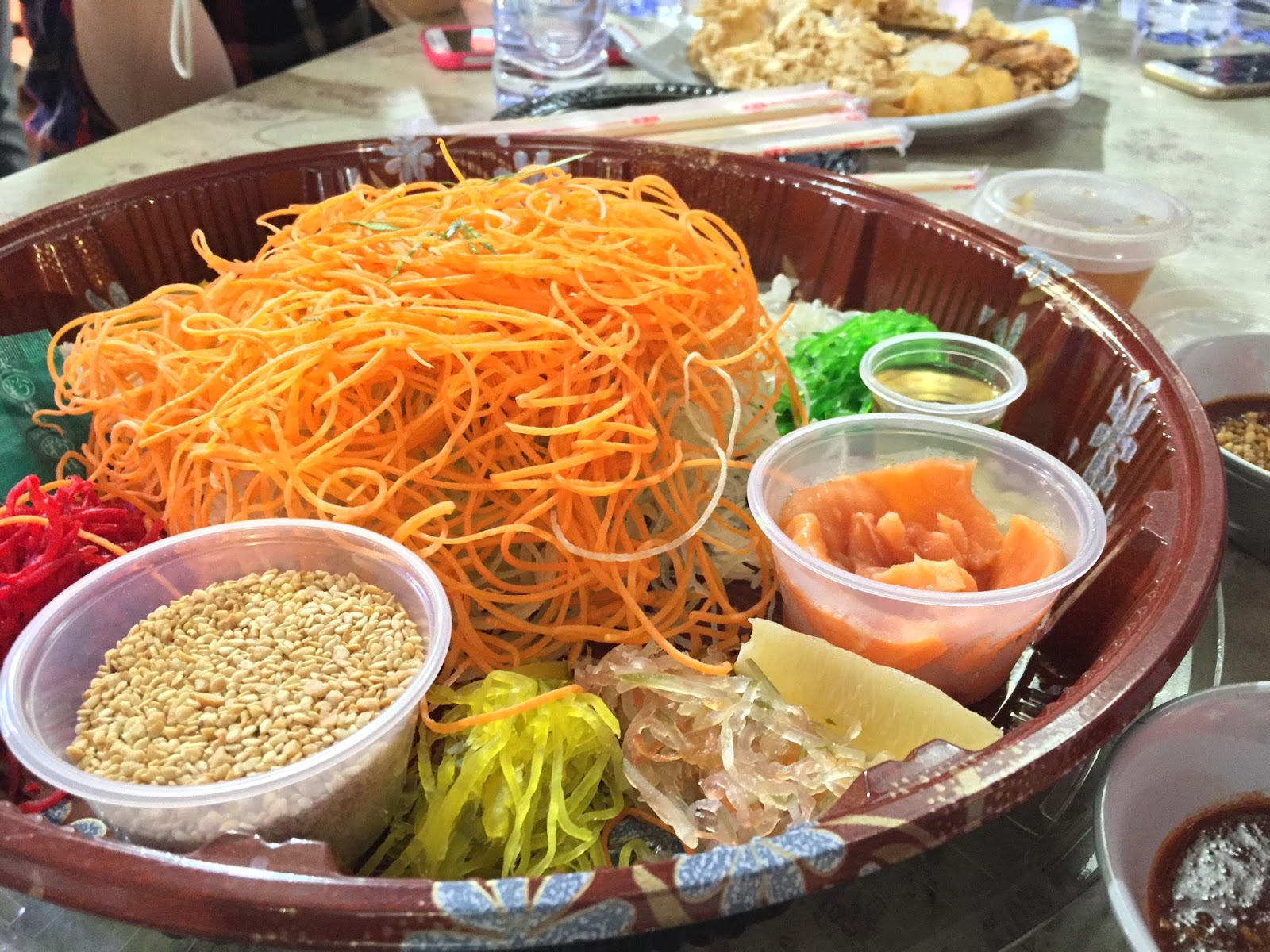 Yu Sheng at Chinatown Food Street