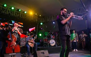 La banda mexicana Jazz House Collective en la inauguración del Festival Jazz al Parque en Bogotá - Colombia / stereojazz