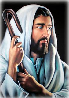 jesus pastor pintado em óleo