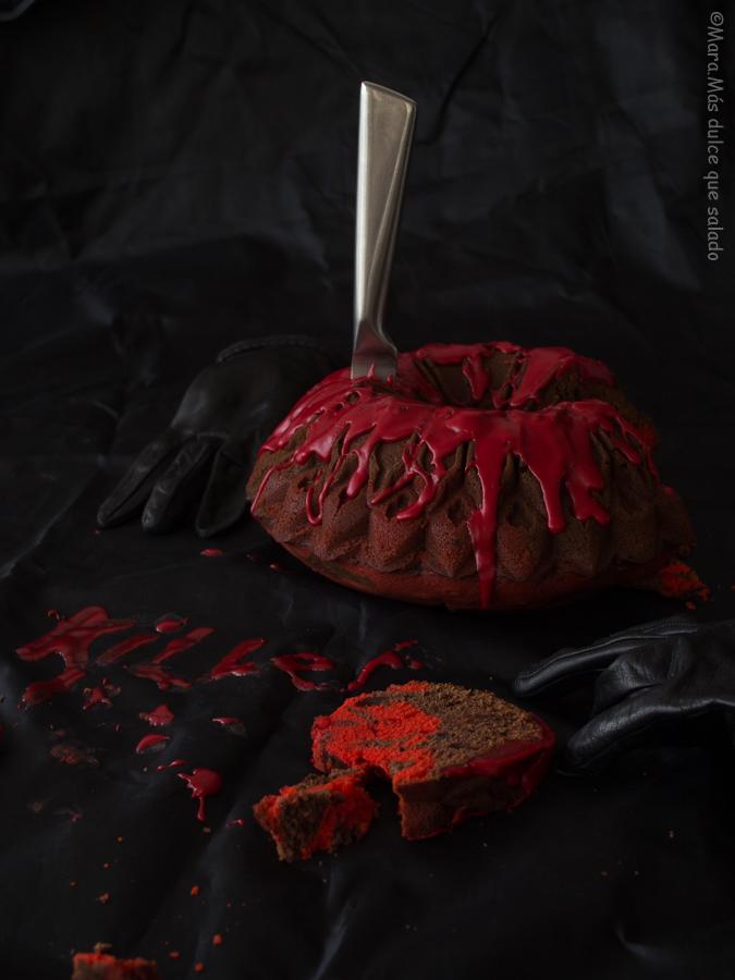 Bloody Bundt Cake. Receta de Halloween