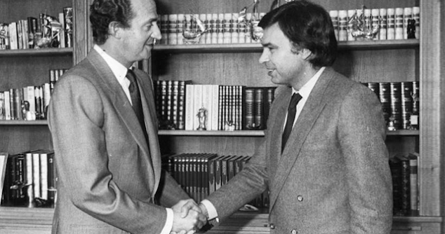 Felipe González y el rey emérito