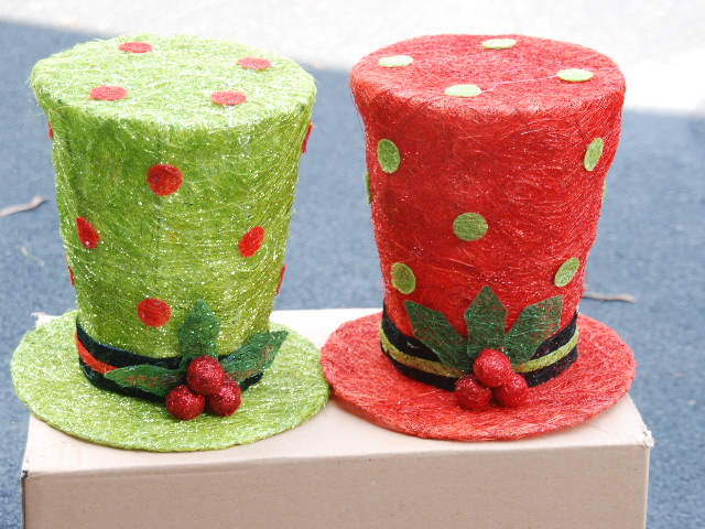 Raz Christmas At Shelley B Home And Holiday Lighted Top Hats