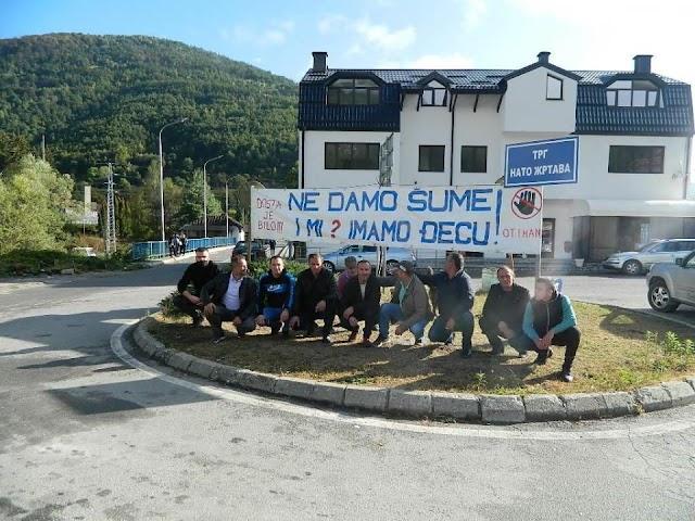 U Murini održan protest protiv eksploatacije državnih šuma