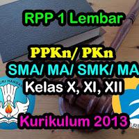 RPP 1 Lembar PKn SMA SMK (Kurikulum 2013 Revisi) - 2020
