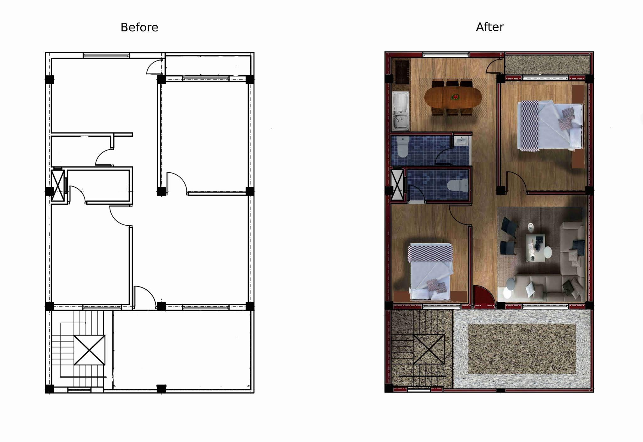 Residence interior render
