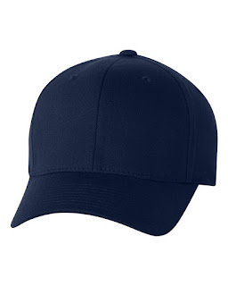 topi baseball navy