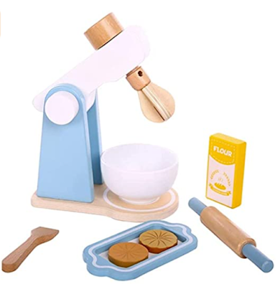 NESTA TOYS - Wooden Cookie Blender Set to Enhance Creativity and Foster Cognitive Thinking of Child