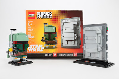 New York Comic Con 2017 Exclusive Star Wars Boba Fett with Han Solo in Carbonite BrickHeadz Box Set by LEGO