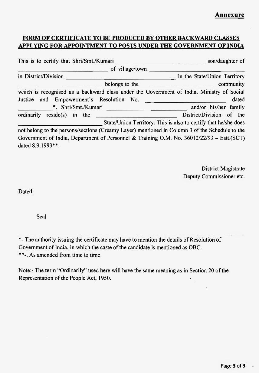delhi govt caste certificate form