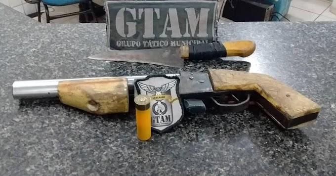 MAIS UMA ARMA DE FOGO RETIRADA DAS RUAS PELA GUARDA MUNICIPAL.