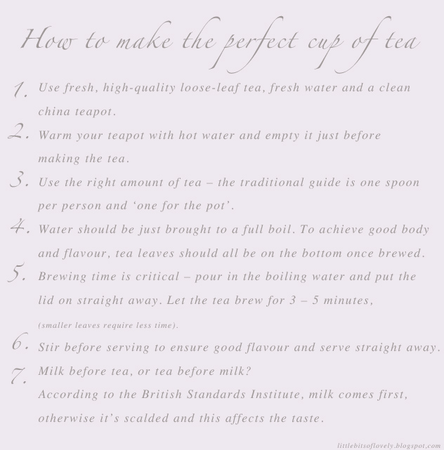 Little Bits of Lovely: The perfect cup of tea