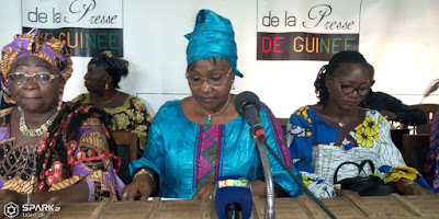 madame Bangoura Maimouna Yombouno présidente de la fondation.
