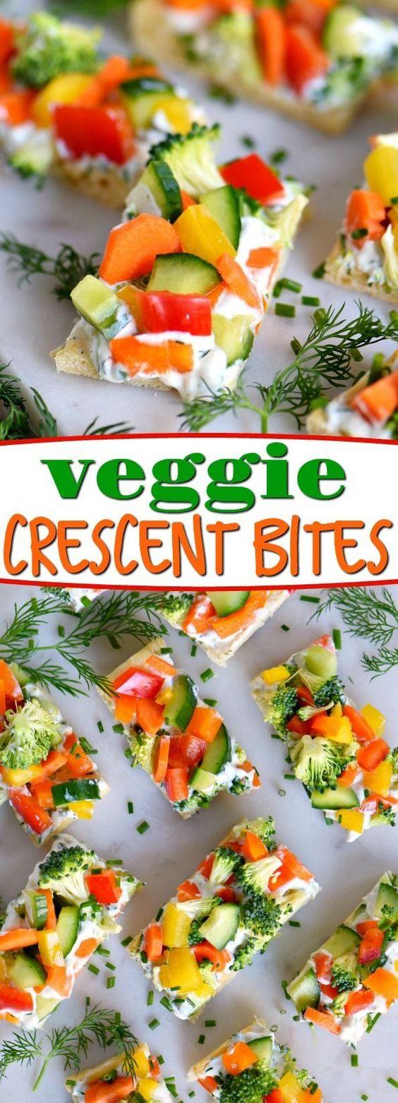 VEGGIE CRESCENT BITES #Veggie #vegan #Crescent #Bites #Cookies #Healthyrecipe #Italianfood #canadianfood #Americanfood