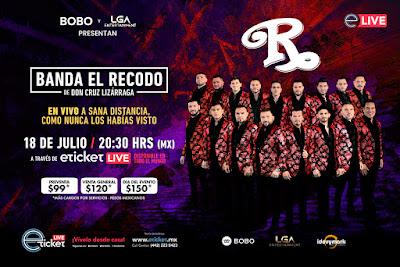 La banda El Recodo presentará un show distinto de manera virtual