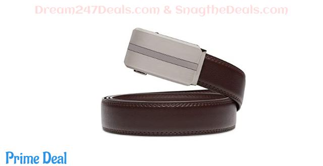 50% OFF Belt for Men, Mens Leather Ratchet Dress Belt Automatic Buckle Wide
