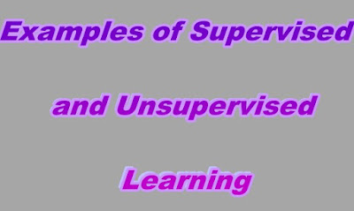 Examples of Supervised and Unsupervised Learning
