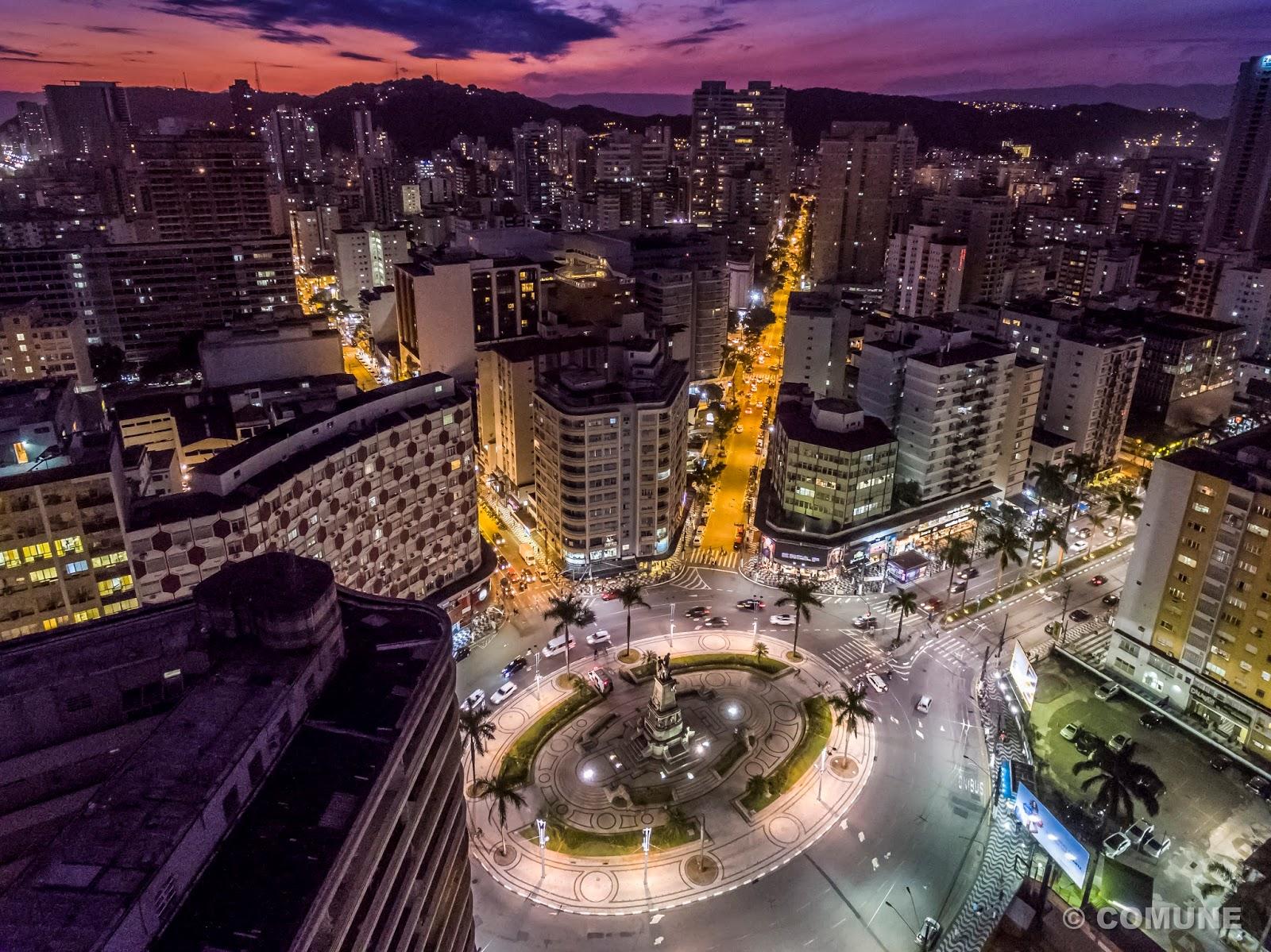 Melhor De Santos Fotos Noturnas Da Cidade De Santos