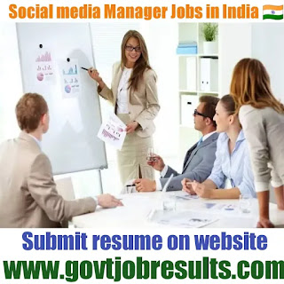 Social Media Manager Jobs India in 2021-22