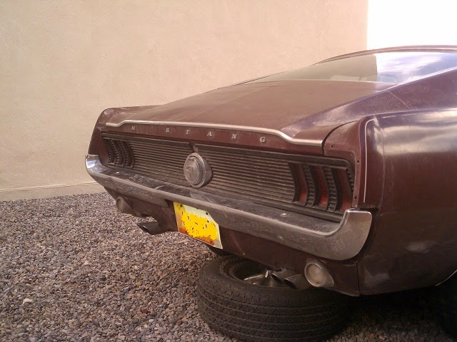 1967 mustang fastback rear taillight ribbed panel