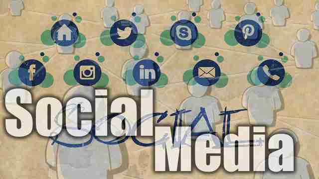 Image of a social media application icon used for essay on social media